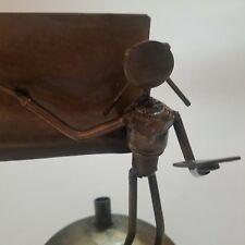 Vintage Junk Art Scrap Metal Nuts Bolts Sculpture Teacher Instructor Pen Holder