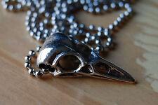 Silver Bird Skull Pendant,Raven,Bellatrix Lestrange Necklace,Harry Potter,Gothic