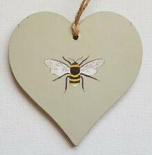 Handmade Wooden Hanging Heart Door Hanger Sophie Allport 'Bee' Print