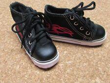 Doll Shoes, Monique  81mm Black BJD Sneakers