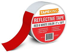 """Reflective Tape Red White Safety  Feet RV Trailers Nighttime Reflectors 2""""x15 Ft"""