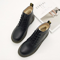 Womens Ankle Boots Platform Lace Up Casual Shoes British Style Flat Heel Retro