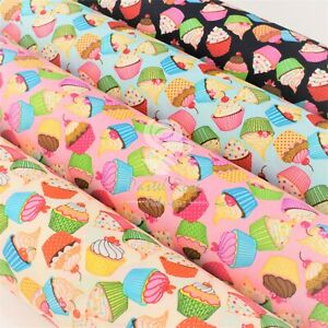 Cupcakes Jamboree Kids Children Fabric 100% Cotton Fabric by Half Metre FQ