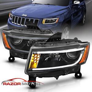 For 2014-2015 Jeep Grand Cherokee Driver Side Halogen Headlight Head Lamp LH