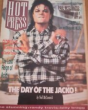 HOT PRESS magazine Aug 1988 Michael Jackson cover and 5 pages 16x12 inches