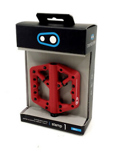 Crank Brothers Stamp 1 Mountain Bike Pedals, Red, Small