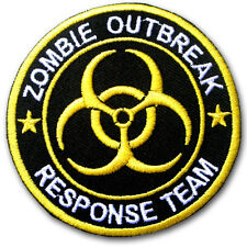 Zombie Outbreak Patch Iron On Hunter Response Team Bio Hazard Embroidered Badge
