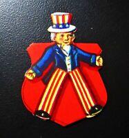 Vintage Die Cut Image of a Patriotic Uncle Sam