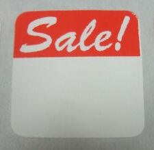 60 Self Adhesive Square Sale 1 18 Labels Stickers Retail Store Supplies