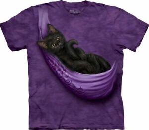 Cat's Cradle Mountain Brand T-Shirt -Black Cat-Kitty tee-Sizes Medium-5X
