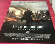 STAR TREK INTO DARKNESS MOVIE POSTER Ultra Rare UN-USED IMAX Advance Style 2013