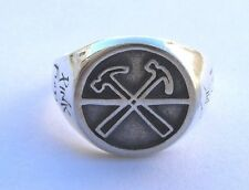 Solid Sterling Silver 925 Pink Floyd The Wall Ring