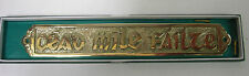 IRELAND IRISH HAND CRAFTED BRASS WALL PLAQUE PLAIN SMALL 14cm