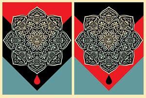 Blood & Oil Mandala Shepard Fairey Set Matching #s Poster Art Print Obey Giant