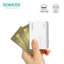 ROMOSS Mini Banco de Alimentación 10000mAh 2-USB teléfono portátil cargador de batería de carga rápida