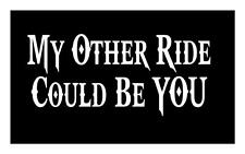 My Other Ride Could Be You 4X9 Cowboy Farm Snowmobile Biker Car Decal Sticker