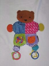 Kids Preferred Teddy Bear Teether Security Blanket Baby Lovey