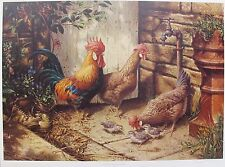 MICHAEL JACKSON ROOSTER CHECKING OUT THE CHICKS Hand Signed Numbered Lithograph