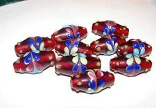 10piece handmade lampwork beads, glass murano style