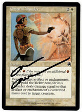Magic the Gathering MTG Apocalypse ORIM'S THUNDER Carl Critchlow AUTOGRAPH (a)