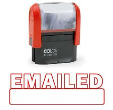 EMAILED Self Inking Rubber Stamp Red Ink Office Custom Colop Stamper|COLP-10A