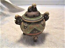 Satsuma Incense Burner (Antique or Vintage Probably From Around 1940.)
