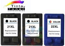 3 Cartuchos tinta para HP 21+22 XL Deskjet d2360 d2460 f2180 f2224 f2280