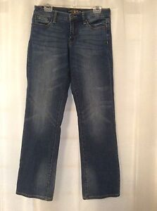 Lucky Brand Women's Stretch Blue Denim Jeans Size 6 28 Easy Rider Distressed