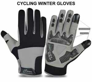 Mens Winter Cycling Gloves Finger Best Quality Touchscreen Foam Palm Bike New