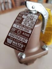 Watts safty relief valvue Mfr #: 3/4 174A-075 model m3 3/4 75psi