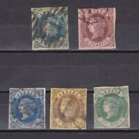 SPAIN 1862, Sc #55-60, CV $48, Part set, Used