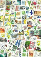 FINLAND Recent used 2000's stamps ON PAPER - around 200
