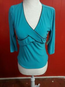 NWT Vol. 1 Women's Junior  Size Large Tourquoise Stretchy Tunic Top