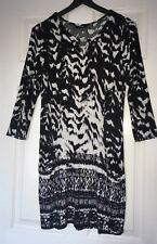 Wallis Black & White Tunic Style Top 12–14 /M ⭐️GC⭐️