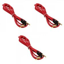 3X 3.5mm Male to M Aux Cable Cord L-Shaped Right Angle Car Audio Headphone Jack