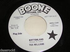 "7"" - Tex Williams / Bottomland & First step down - US PROMO DEMO # 3954"
