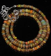 """Ethiopian Welo Fire Opal R1679 35 Ctw 1Necklace 2to5mm16""""Beads Natural Genuine"""