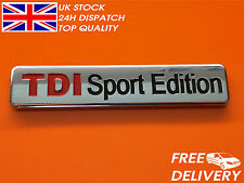 NEW TDI Sport Edition Badge Emblem Logo Sticker VW AUDI CP29