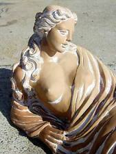 "Neo-Classical Revival Style Statue ""Reclining Muse"" Terracotta 145cm-Babi Goumas"