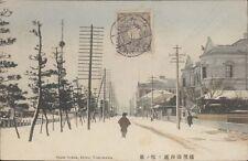 JAPAN YOKOHAMA BUND SNOW SCENE