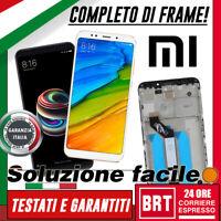 LCD+TOUCH SCREEN+FRAME TELAIO XIAOMI REDMI 5 PLUS MI 5 MEG 7 VETRO BIANCO NERO!!