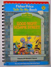 VINTAGE! 1978 Fisher Price Talk-To-Me Book #10-Good Night Sesame Street