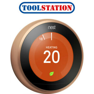 Nest Smart Learning Thermostat Copper T3031EX