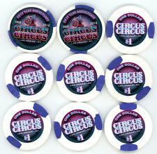 New ListingNine $1 Circus Circus Las Vegas Casino Chips Las Vegas Nv Obsolete Casino Chips