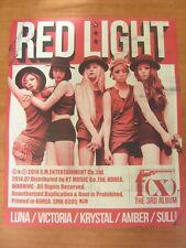 f(x) - Red Light (Ver. B) [OFFICIAL] POSTER K-POP *NEW* FX