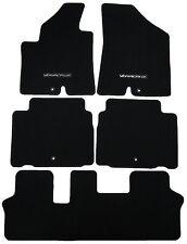 New Floor Mat Set Textured Black Charcoal Hyundai Veracruz Logo U81403J000WK