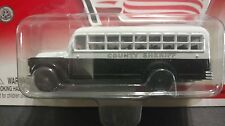 Johnny Lightning American Heroes County Sheriff 1956 Chevy Bus 1/64 Black