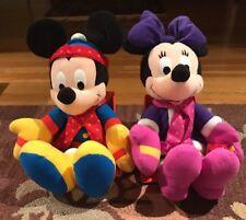 Minnie & Mickey Mouse Winter Plush Stuffed Animal Disney Mattel Toy 19� New