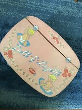 AMSCO Vintage 1958 Doll -E- Layette Basket Estate Sale Find Excellent Condition
