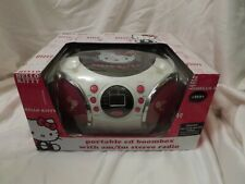 Sanrio Hello Kitty Portable Cd Boombox with Am/Fm Stereo Radio New 7B